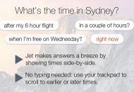 Jet te ayuda a conocer la hora alrededor del mundo